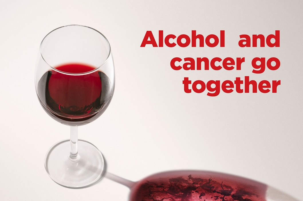Alcohol and cancer go together
